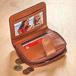 Magnet 3Pagen Patchworková peněženka koňaková