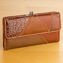 Magnet 3Pagen Patchworková peněženka, koňaková 17x10x2,5cm