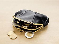 Magnet 3Pagen Peněženka kožená černá