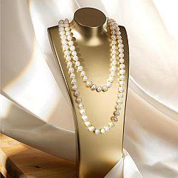 Magnet 3Pagen Perlový náhrdelník , bílá 120 cm