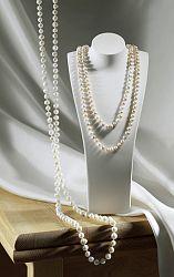 Magnet 3Pagen Perlový náhrdelník růžová-bílá 130 cm