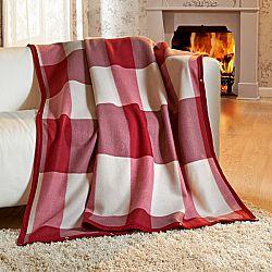 Magnet 3Pagen Příjemná deka, bordó-béžová