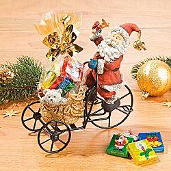 Magnet 3Pagen Santa Claus na tříkolce