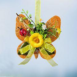 Magnet 3Pagen Sisalový motýl, žlutá