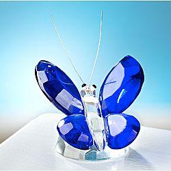 Magnet 3Pagen Skleněný motýl, modrá