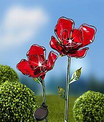 Magnet 3Pagen Solární květina, červená
