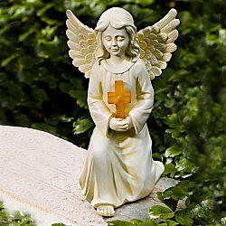 Magnet 3Pagen Solární svítilna  Náhrobní anděl 16x22x22cm