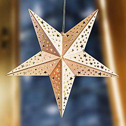 Magnet 3Pagen Vánoční LED dřevěná hvězda