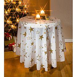 Magnet 3Pagen Vánoční ubrus, bílá Prům. 160 cm pr.160cm