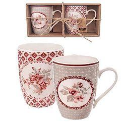 Orion Dárková sada porcelánových hrnků Love Rose 2 x 350 ml