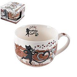 Orion Hrnek porcelánový kočky ve městě 0,5l