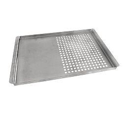 Plech grilovací nerez děrovaný/plný 40x26x1,5 cm
