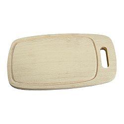 Prkénko dřevěné oválné 32,5 x 18 cm