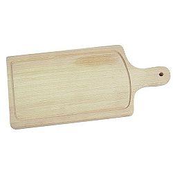 Prkénko dřevěné s rukojetí a drážkou 44 x 20 cm