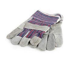 Rukavice hobby kombinované kůže/textil