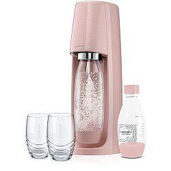 Spirit Růžový výrobník perlivé vody SODA