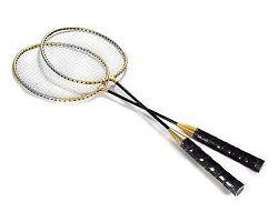 SPORTWELL Sada na badminton, 2 rakety a 2 košíčky, pouzdro
